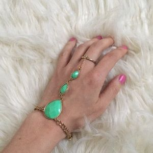 Jewelry - Green gold hand chain | slave bracelet